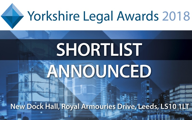 It's here! Read the Yorkshire Legal Awards 2018 shortlist