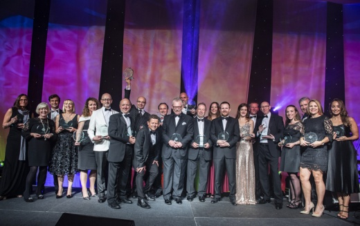 Winners celebrate at the Yorkshire Legal Awards 2018