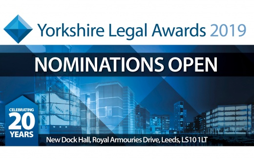 20th Annual Yorkshire Legal Awards set for 10 October