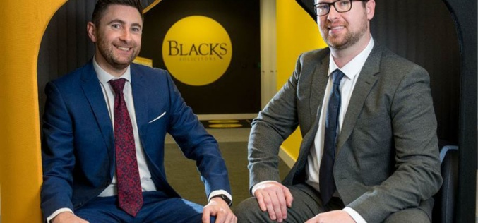 Blacks Solicitors promotes key duo