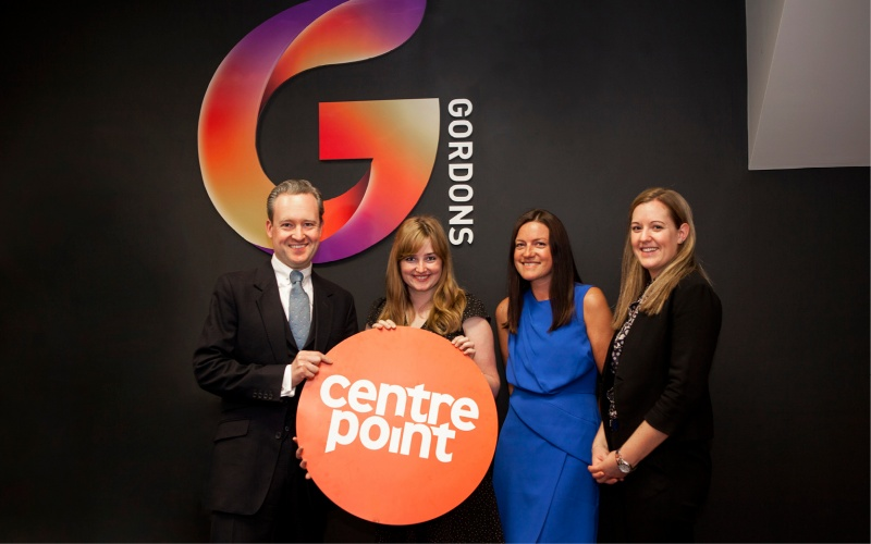 Gordons raises cash and mentors Centrepoint young people