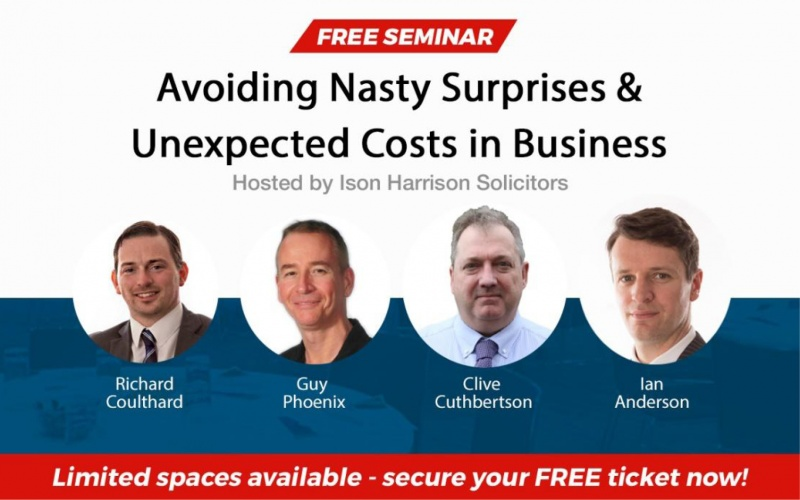 Free seminar: Avoiding nasty surprises and unexpected costs in business