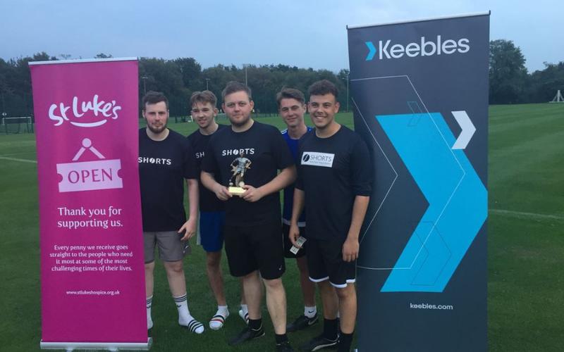 Keebles scores £1,825 for St Luke's at football fundraiser