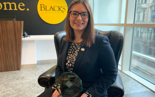 Trainee Solicitor of the Year Annie Beaumont celebrates Yorkshire Legal Awards win