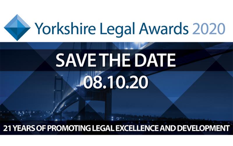 Yorkshire Legal Awards 2020 set for 8 October