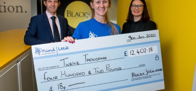 Blacks Solicitors raises £12k+ for Leeds Mind