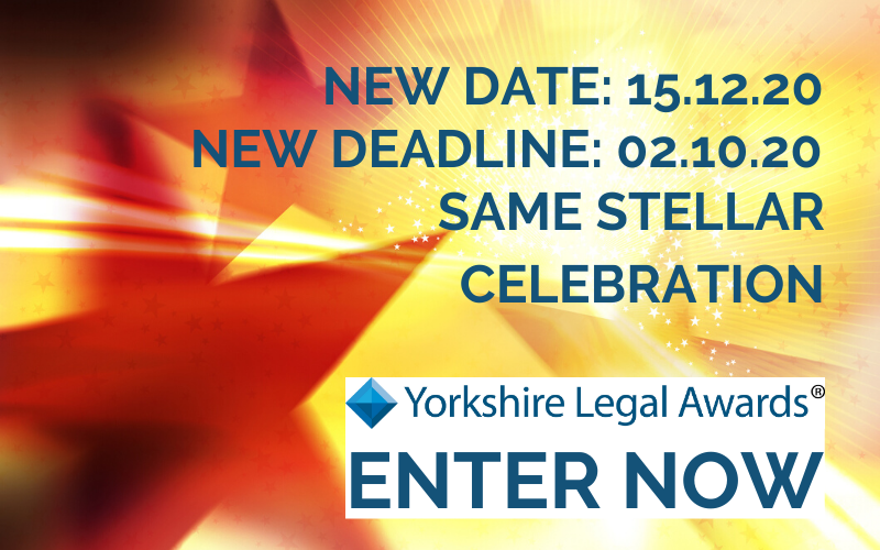 Yorkshire Legal Awards 2020 moves to 15 December