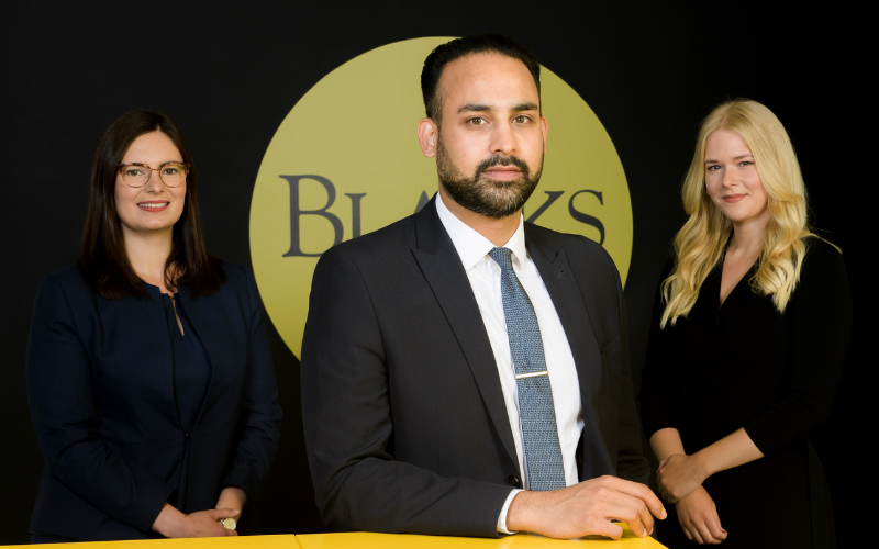 Blacks retains three newly qualified solicitors