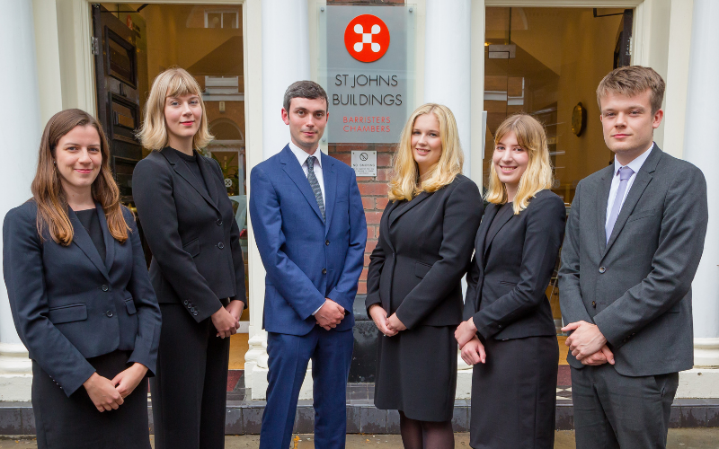 St John's Buildings welcomes six new barristers following pupillage