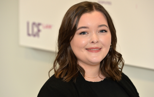 Apprentice solicitor on course for qualification at LCF Law