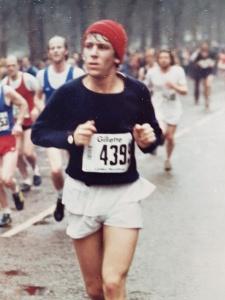 Paul Berwin running the London Marathon in 1981